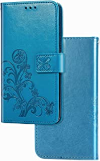 YukeTop Case for vivo V20 2021, PU Leather Flip Folio Wallet Cover, With Card Slots, Case Cover for vivo V20 2021.(Blue)