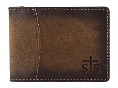 STS Ranchwear The Foreman Hidden Money Clip Wallet (Brown) Wallet Handbags
