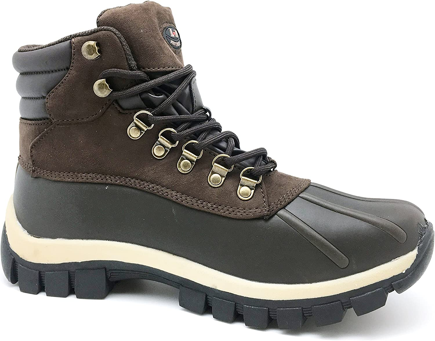 LM Men Waterproof Rubber Sole Winter Snow Boots Work Boots 7014
