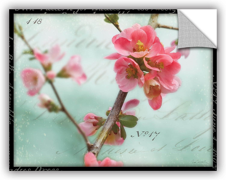 ArtWall 2sch001a1418p Sue Schlabach's Quince Blossom, Removable Wall Art Mural 14x18