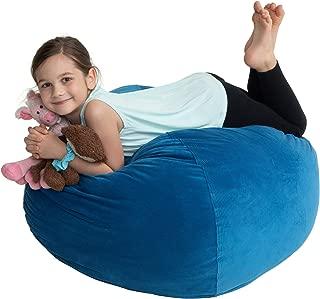 EMMandSOPHIE Stuffed Animal Storage Bean Bag Chairs For Kids - Stuff & Organize Plush Toy Animals 38