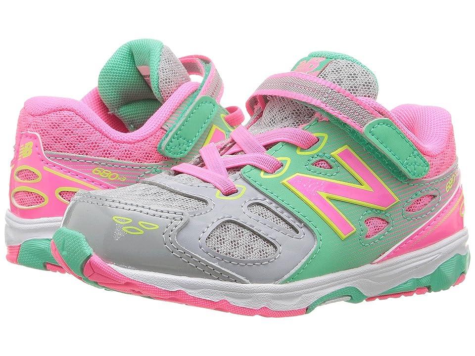 New Balance Kids KA680v3 (Infant/Toddler) (Grey/Pink) Girls Shoes