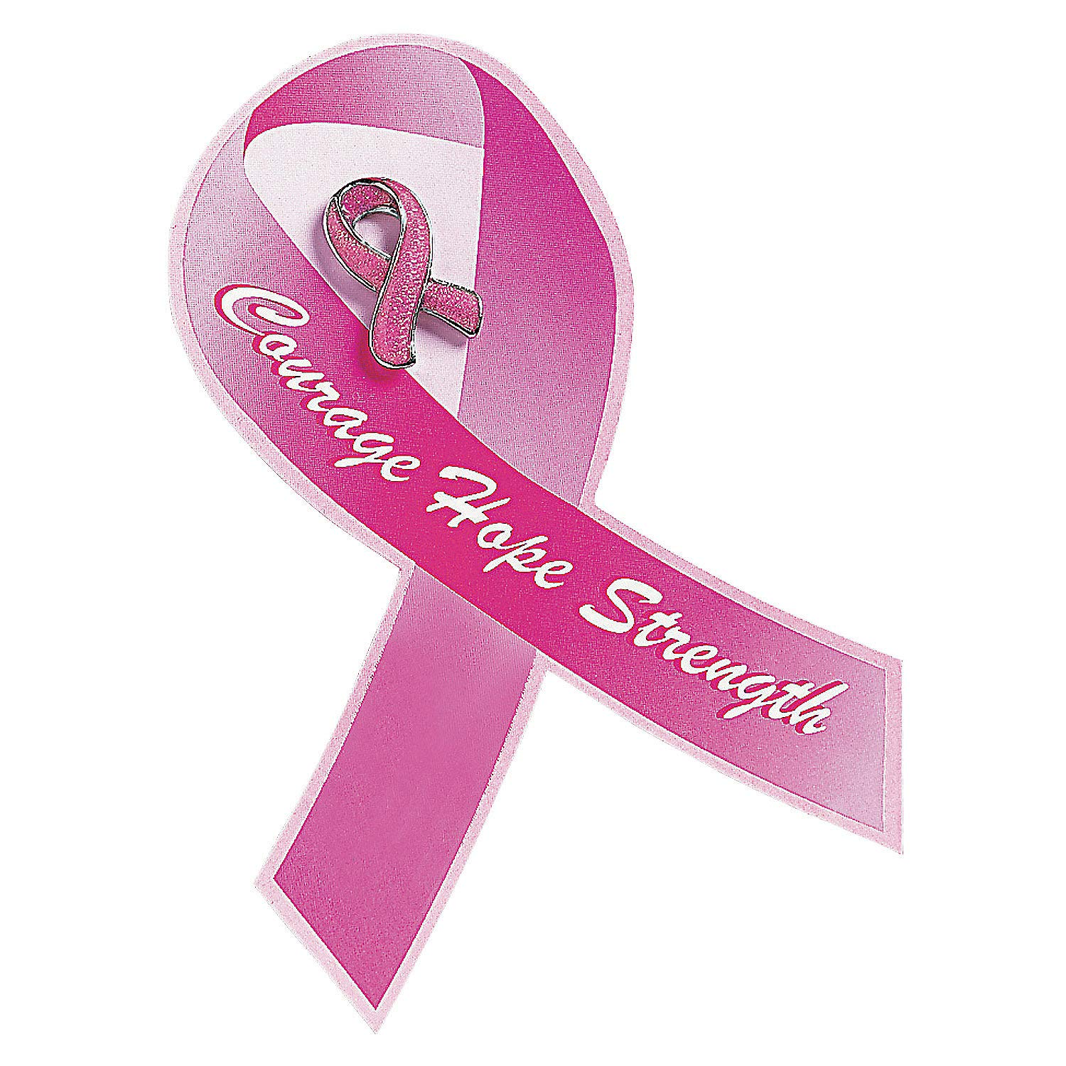 Amazon.com: Pink Ribbon Glitter Pin with Card (set of 12) Breast Cancer  Awareness Jewelry, Supplies and Giveaways: Toys & Games