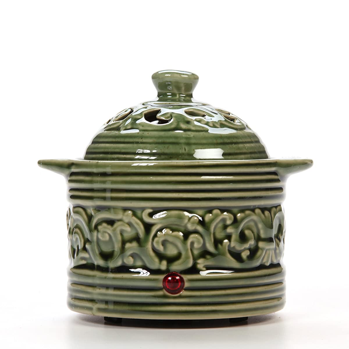 Hosley Green Electric Potpourri Warmer. Ideal Gift for Wedding, Special Occasions, Spa, Aromatherapy, Reiki, Meditation Settings and Home Office W9