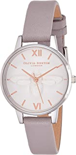 Olivia Burton Womens Quartz Watch, Analog Display and Leather Strap OB16AM163