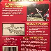 2PB4 Pair Rod Saver Paddle Buckle 2 inch Trailer Tie-Downs 4 Feet