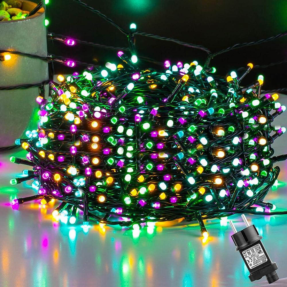 Ulinek 50m 500led luci natale esterno stringa luci natale led colorate Ulinek