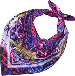 Bandana for Women and Men - Not Fade Moisture Wicking Printed Paisley Light Cowboy Towel 25 Inches x 25 Inches