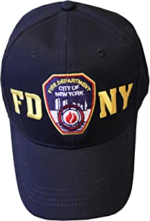 FDNY Baseball Hat Badge Fire Department of New York City Navy & Gold O.