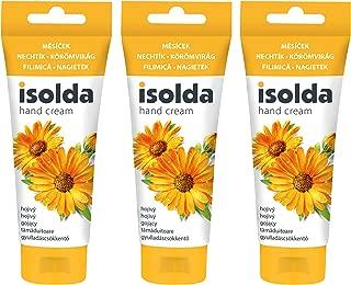 Isolda Handcreme Ringelblume mit Leinöl 100 ml - heilend - sofort einziehende Pflegecreme Handbalsam Hand Creme 3er Packung