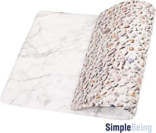 Simple Being Anti Fatigue Kitchen Floor Mat, Comfort Heavy Duty Standing Desk Mats, Ergonomic Non-Toxic Waterproof PVC Non Slip Washable For Indoor Outdoor Home Office Use Marble/Pebbles, 32