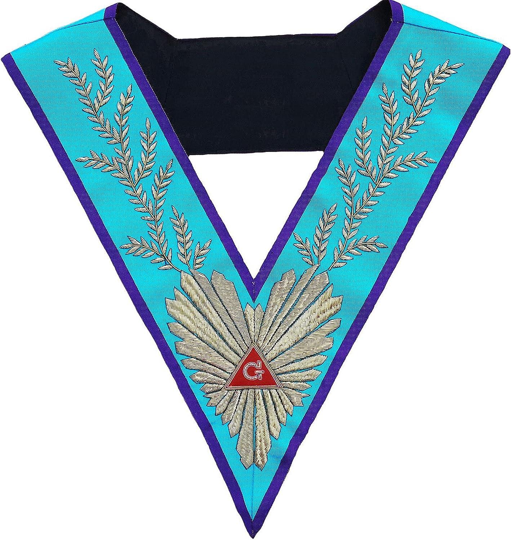 Masonic Memphis Misraim Worshipful Master Hand Embroidered Collar