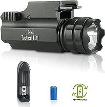 DefendTek Rechargeable Tactical LED Rail Mounted Gun Flashlight DT-M1 300 Lumens