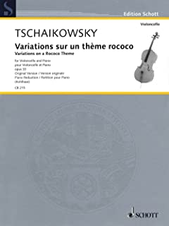 Schott Variations on a Rococo Theme, Op. 33 String Series Softcover Composed by Pyotr Il'yich Tchaikovsky