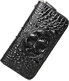 PIJUSHI Wristlet Wallet For Women Crocodile Leather Wallet Ladies Clutch Purses