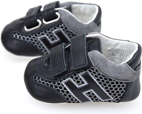 Hogan Junior Olympia Scarpa Sneaker Bambino Neonato Nero Art ...