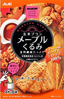 Asahi Balance Up Brown Rice Walnut Bar Cereal Cookie,Maple Pecan, 150 g