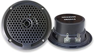 NRG Audio 3-Inch Marine Grade Speakers – Spa, Hot Tub, Sauna, Motorcycle, Boat, RV, Camper, Trailer or Golf Cart - UV and Water Resistant Speakers (Sold as a Pair)