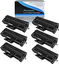 KCMYTONER Compatible for Samsung MLT-D104L MLT-D104S 104L 104S Toner Cartridge Replacement Used for ML-1665 ML-1675 ML-1860 ML-1865W SCX-3200 SCX-3206 SCX-3210 SCX-3218 Printer (Black,6-Pack)