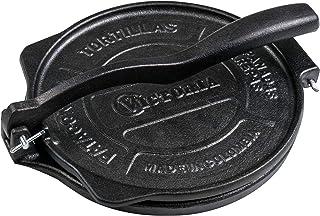 """Victoria 8"""" Commercial Grade Cast Iron Tortilla Press, New Secret Indestructible """"HD Iron"""". 8-Inch Tortilla and Quesadilla..."""