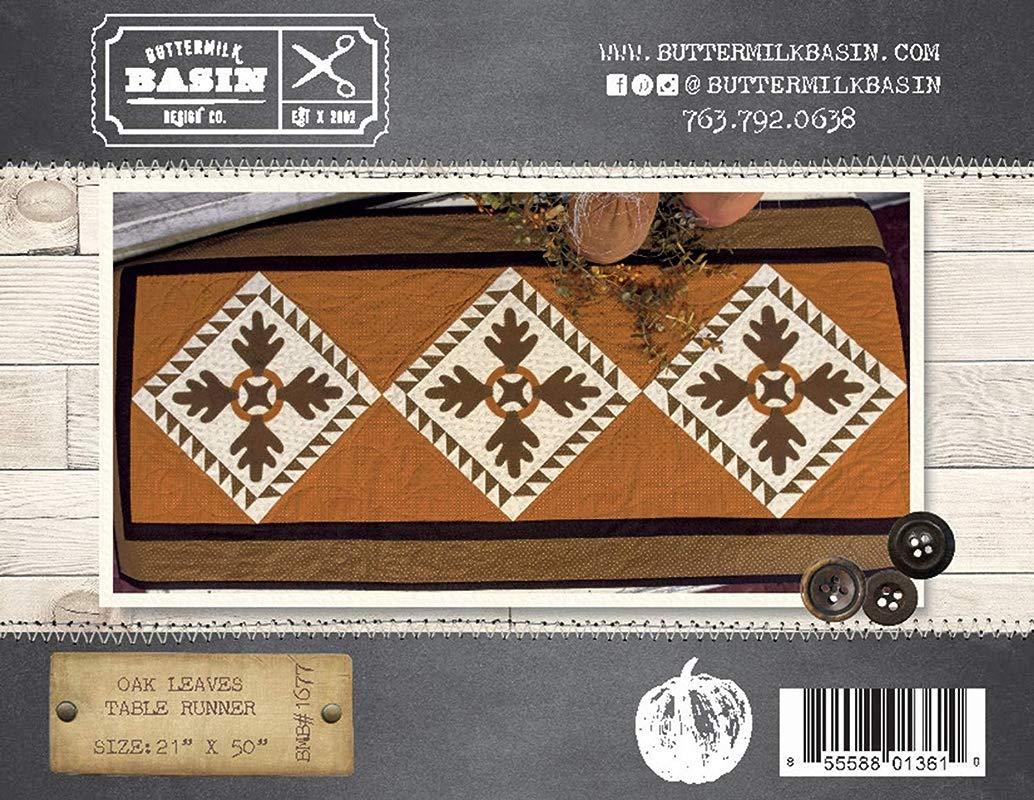 Oak Leaves Fall Table Runner Quilt Pattern By Buttermilk Basin BMB 1677 21 X 50