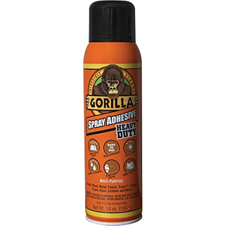 Gorilla 6301502 Spray Adhesive 14oz, 1-Pack, Clear, 14 Ounce
