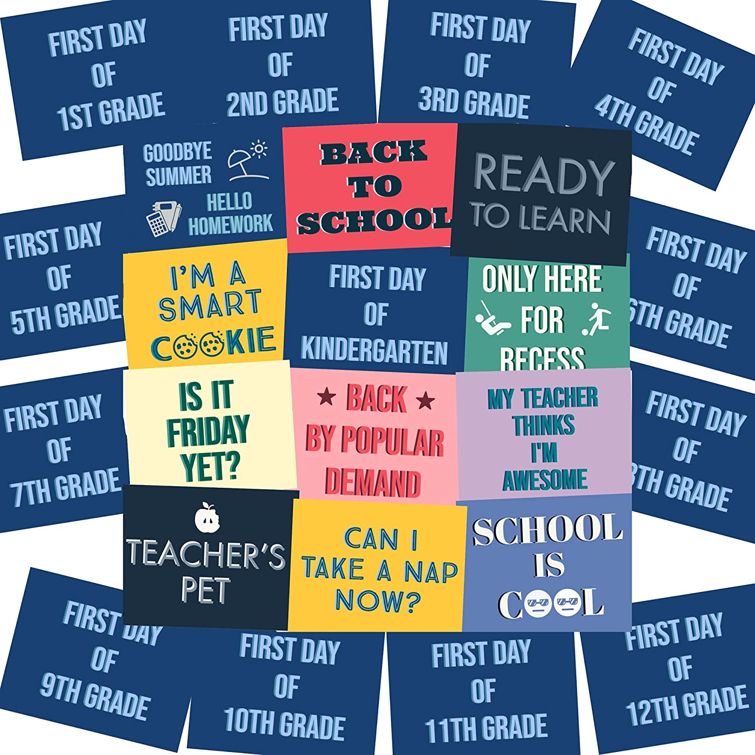 Back to School Photo Booth Props Day Picture Very Challenge the lowest price of Japan ☆ popular Signs of 1st