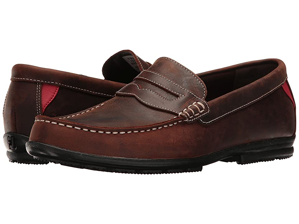 FootJoy Club Casuals Handswen Penny Loafer (Bomber Brown) Men