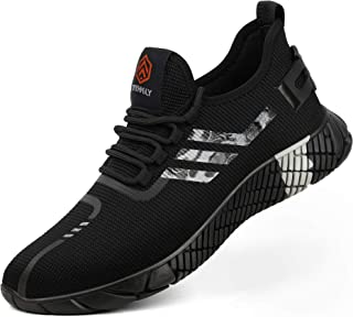 Kefuwu Zapatillas de Seguridad Hombre Ligero Transpirable Anti-pinchazo Zapatos de Seguridad con Puntera de Acero Calzado ...