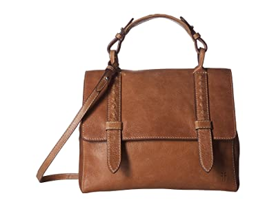 Frye Reed Flap Satchel (Tan) Handbags