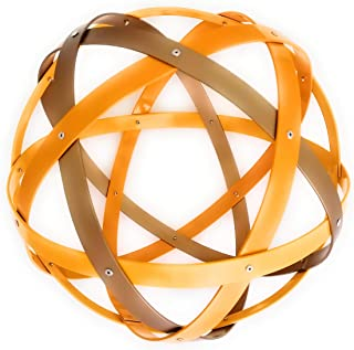Pentasfera (genesa 6 cerchi), Purificatore energia, 32 cm diametro, Giallo e Bronzo