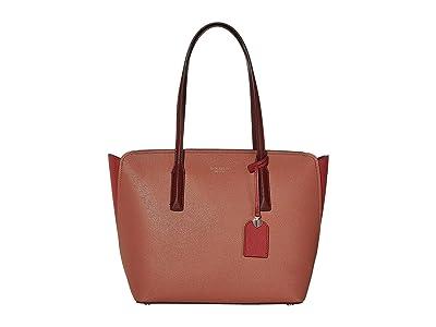 Kate Spade New York Margaux Medium Tote (Tinted Rose Multi) Handbags
