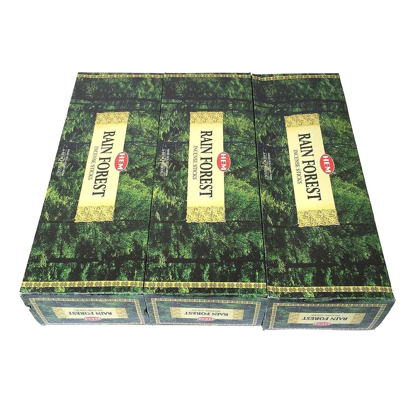 凍る確保する入場レインフォレスト香スティック 3BOX(18箱) /HEM RAIN FOREST/インセンス/インド香 お香 [並行輸入品]