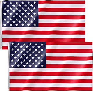 Best Free Walker American Flag 3x5 FT 2PACKS,Premium Nylon US Flags with Bright Vibrant Color and Brass Grommets for Indoors and Outdoors,Durable USA Flag for Outside(2xBreeze Style) Review