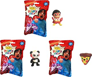U.C.C. Distributing Ryan's World Surprise Mystery Jellies Squishy Toy Set of 3 - Includes 3 Random Characters