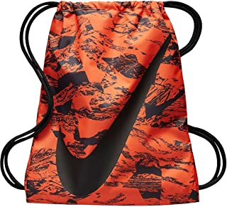 NIKE Young Athlete Drawstring Gymsack Backpack Sport Bookbag (Atomic Orange  Swirl and Signature Swoosh Logo cdbf00384e73a