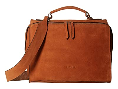 NEUVILLE Friday Satchel (Marron Suede) Handbags