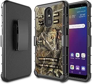 LG Stylo 5 Case, 2019 LG Stylo 5 Holster Clip, Njjex [Ngate] Armor Defender Locking Swivel Belt Clip Kickstand Heavy Duty Full Body Protective Carrying Phone Cover For LG Stylo 5 (6.2