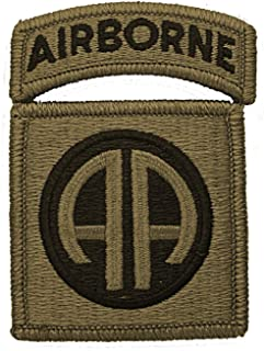82nd Airborne Multicam Patch with Airborne Tab