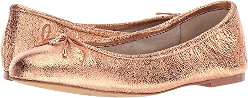 Copper Penny Soft Crinkle Metallic Leather