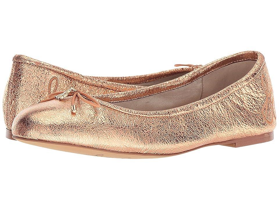 Sam Edelman Felicia (Copper Penny Soft Crinkle Metallic Leather) Women