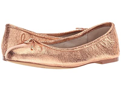 Sam Edelman Felicia (Copper Penny Soft Crinkle Metallic Leather) Women