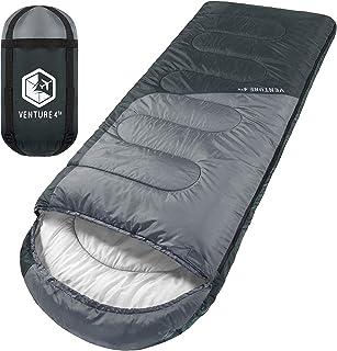 VENTURE 4TH Backpacking Sleeping Bag - Lightweight, Comfortable, Waterproof, 3 Season - Hiking, Camping & Outdoor Adventur...