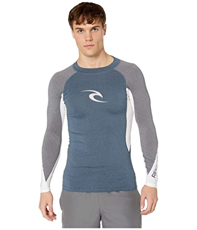 Rip Curl Wave UV Tee Long Sleeve (Navy) Men