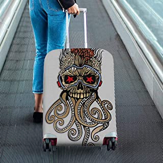 Suitcase Protectors Dust Proof Luggage Covers Fit 18-28 Inch Luggage Skull of the dead diver