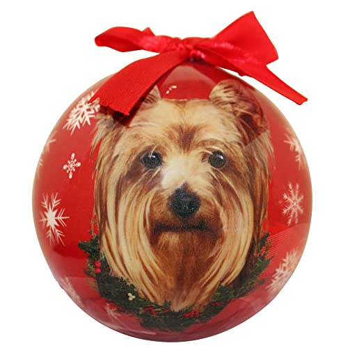 Yorkie Christmas Ornament Shatter Proof Ball Easy To Personalize A Perfect Gift For Yorkie Lovers