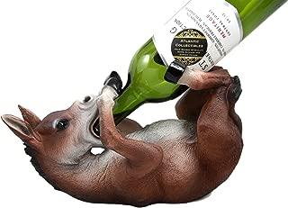 Ebros Gift Drunken Mule Wine Bottle Holder Caddy Figurine 11