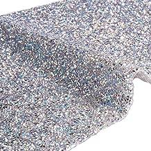 BENECREAT 240X400mm Crystal AB Epoxy Rhinestone Sheet Hotfix Rhinestone Sheet Banding Bridal Rhinestone for Dresses Shoes with 3mm Rhinestones