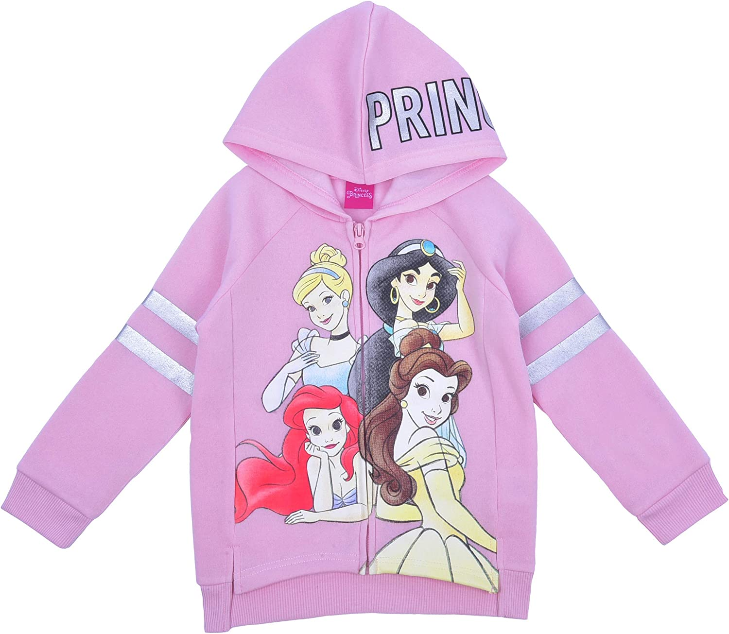 Disney Princesses Pullover Fleece with Tulle Ruffles Pink