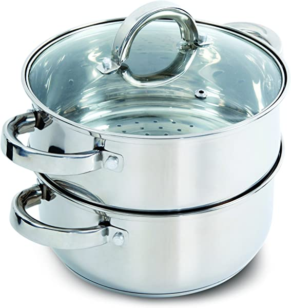 Oster Sangerfield Steamer Set With Lid For Stovetop Use Stainless Steel